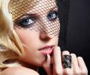 beautiful blonde in veil